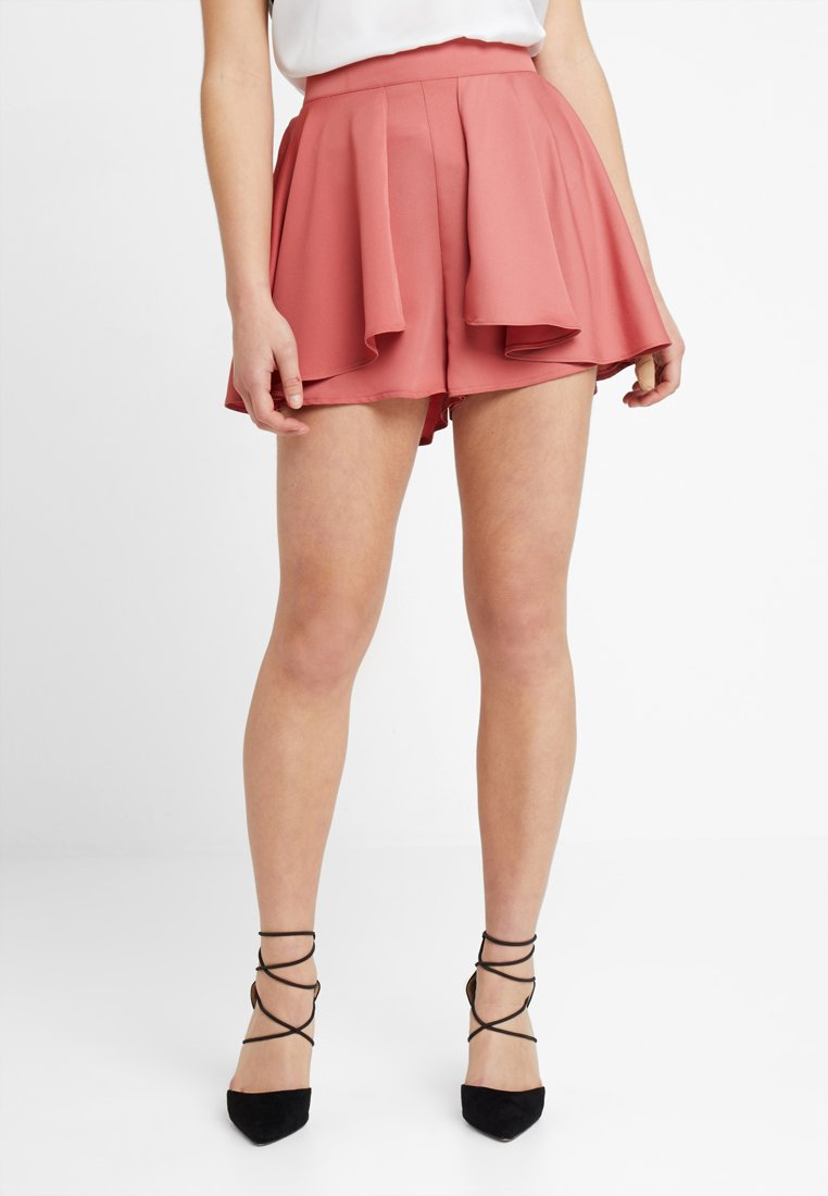 Lost Ink Petite - WITH DRAPE OVERLAY - Shorts - nude