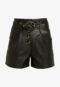 Lost Ink Petite - WITH BUTTON FRONT - Shortsit - black - 3