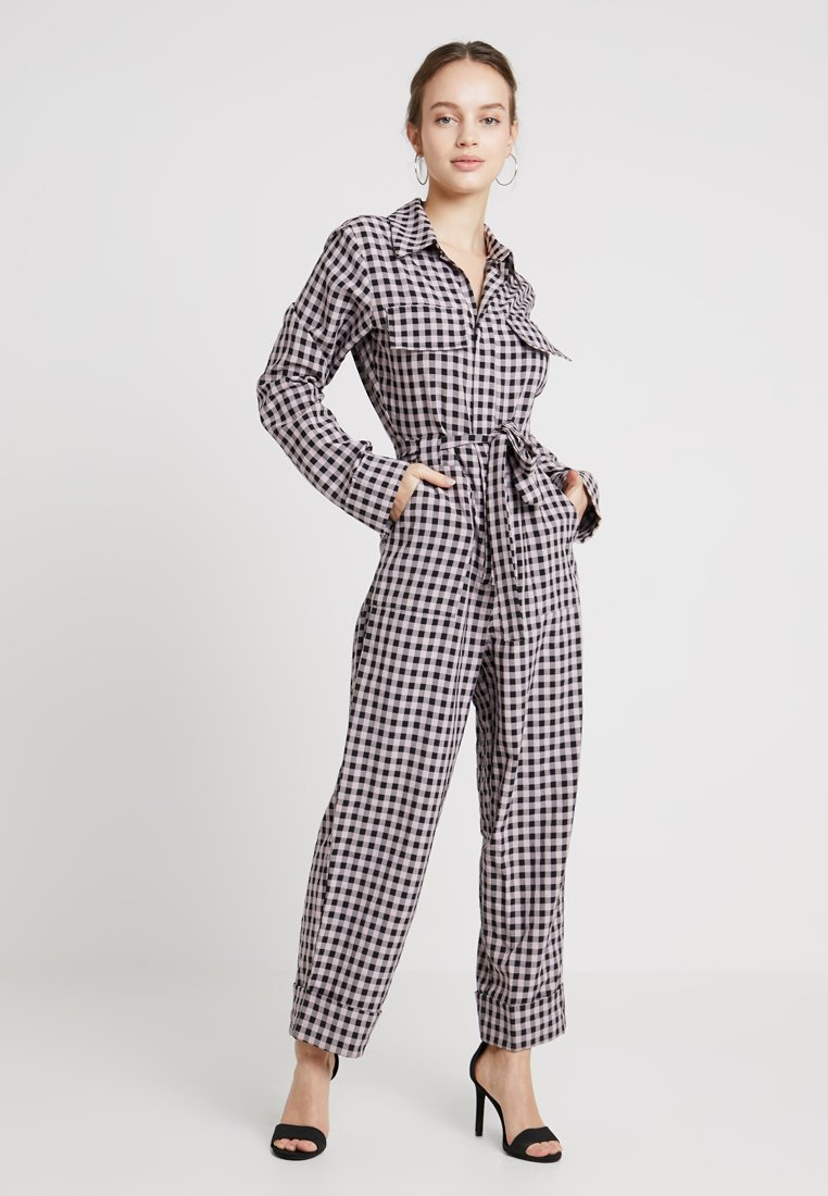 Lost Ink Petite - IN TAILORED CHECK - Kombinezon - pink