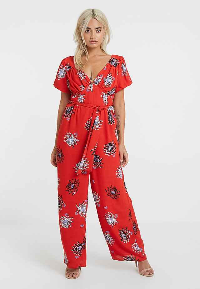 IN FLORAL PRINT - Overall / Jumpsuit - red