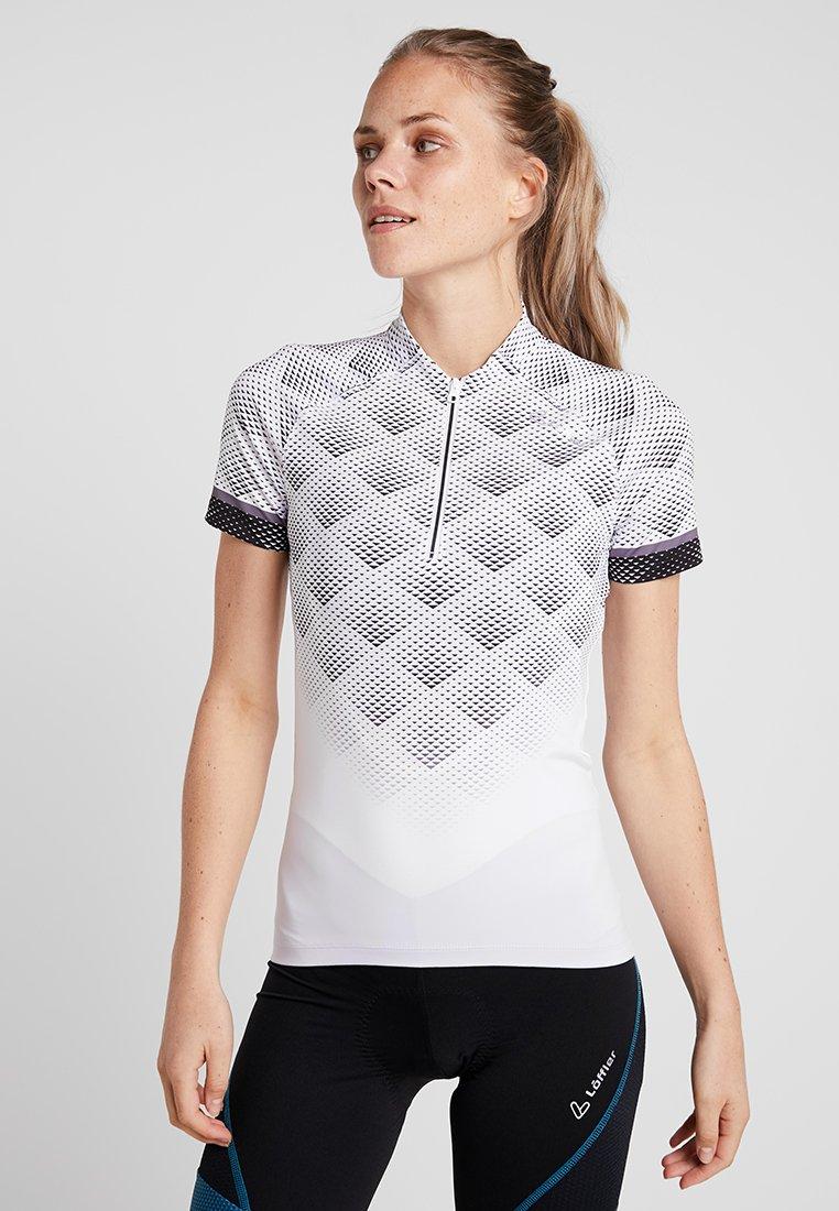LÖFFLER - BIKE TRIKOT JESSY  - T-Shirt print - weiß/schwarz