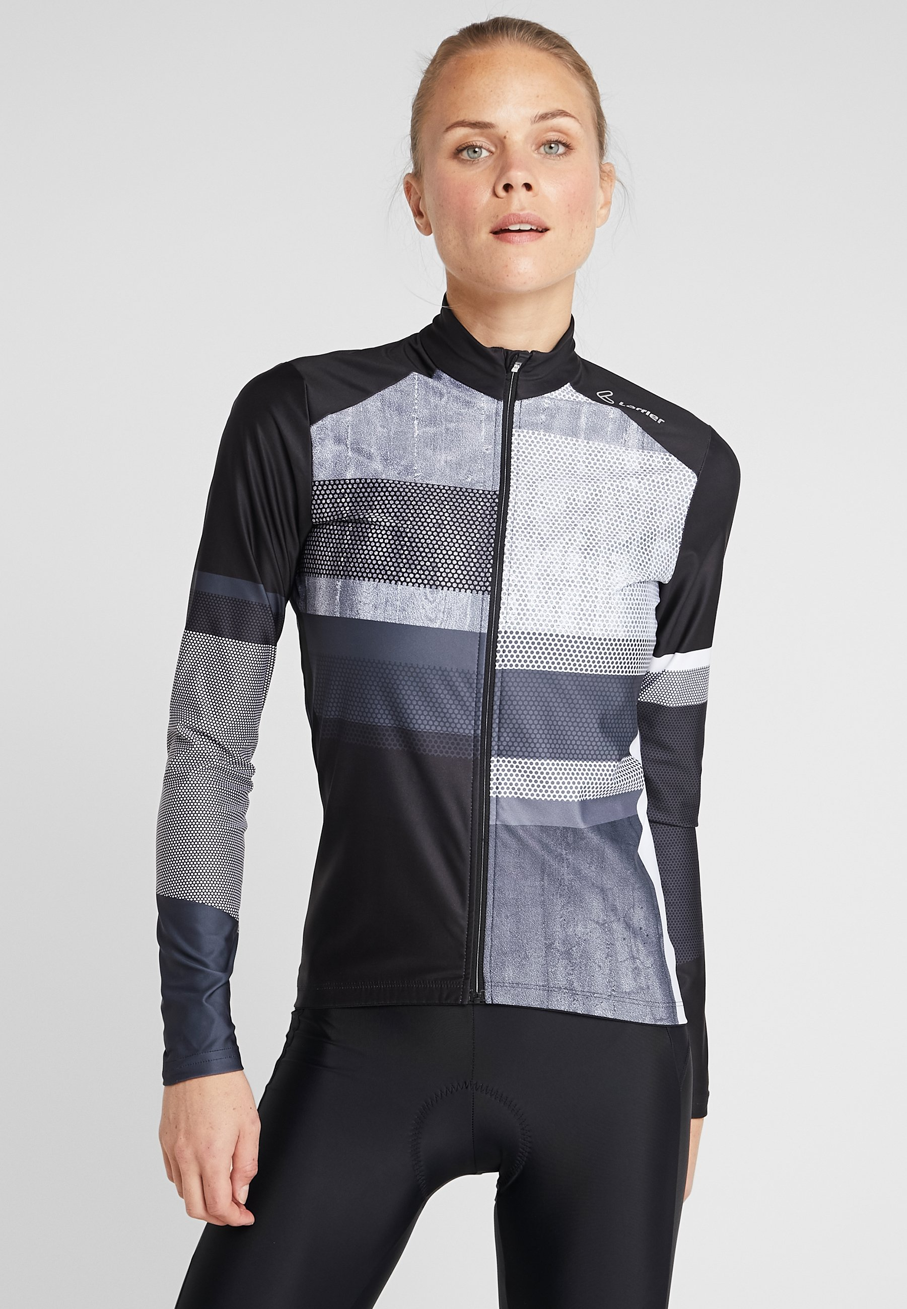 LÖFFLER BIKE PATCHY - Funktionsshirt graphite