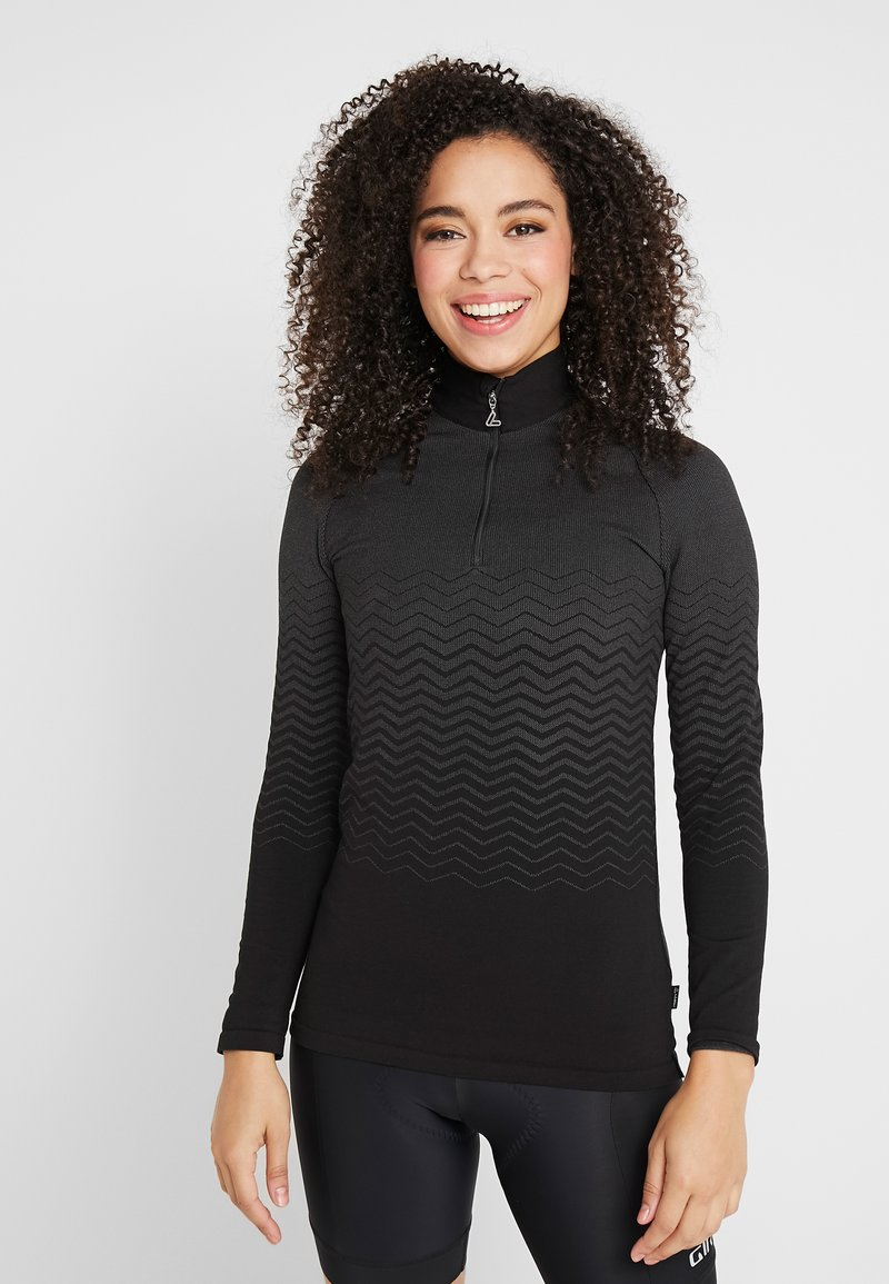 LÖFFLER - PULLI TRANSTEX® HYBRID - Sports shirt - black