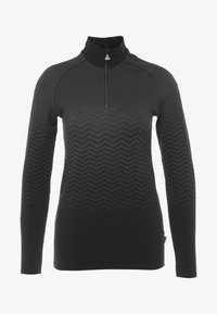 LÖFFLER - PULLI TRANSTEX® HYBRID - Sports shirt - black