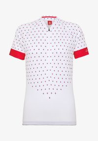 LÖFFLER - BIKE RISE UP - T-Shirt print - white/flamenco - 4