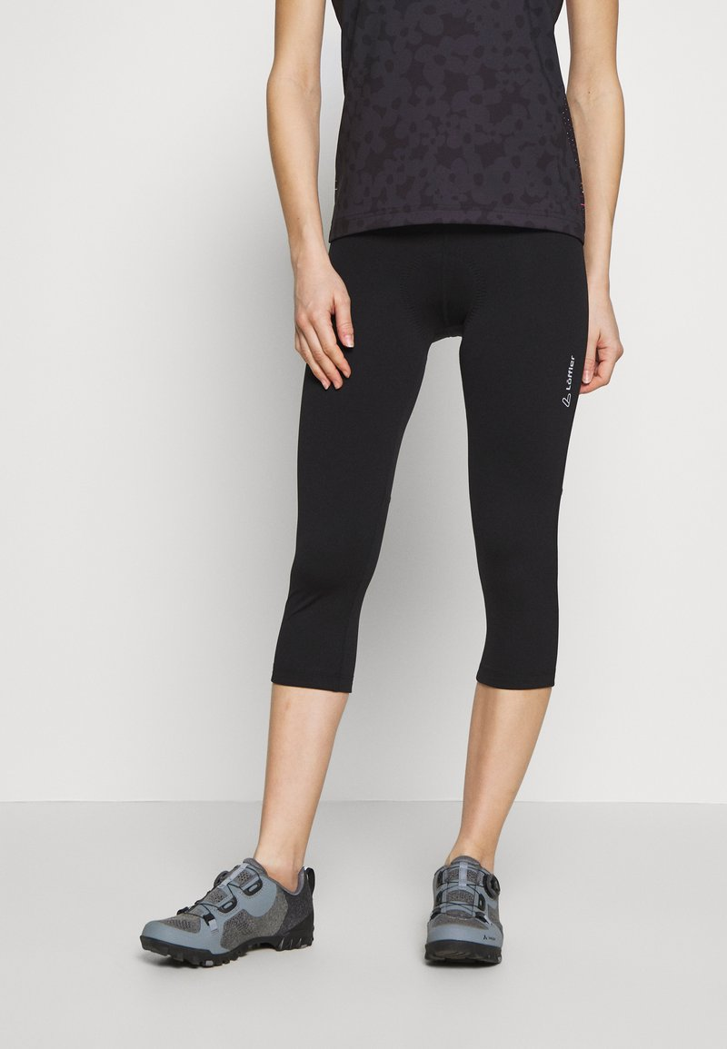 LÖFFLER - BIKE BASIC - 3/4 sports trousers - black