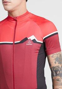 LÖFFLER - BIKE TRIKOT ALPS - T-Shirt print - red - 3