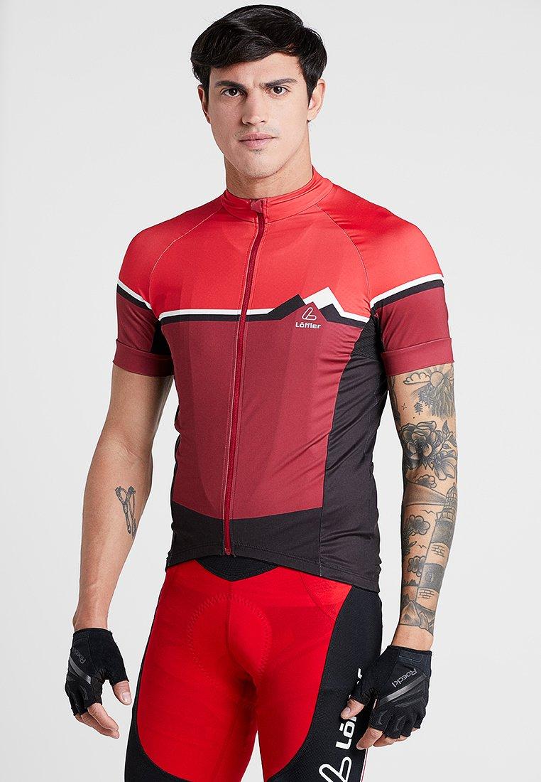 LÖFFLER - BIKE TRIKOT ALPS - T-Shirt print - red
