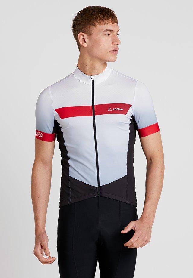 BIKE TRIKOT HOTBOND® - T-shirt print - weiß/rot