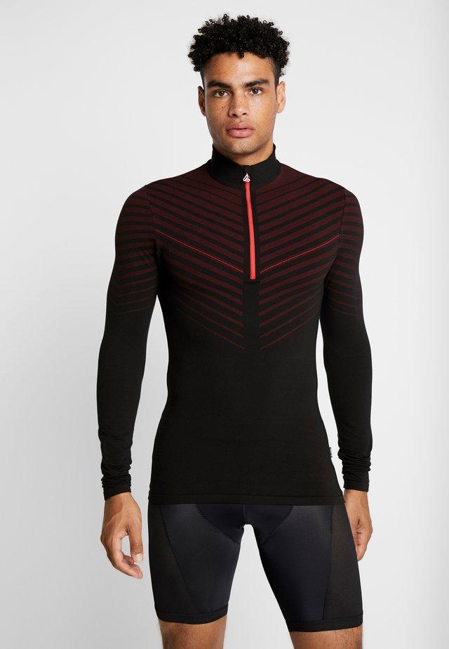 TRANSTEX® HYBRID - Sportshirt - black/red
