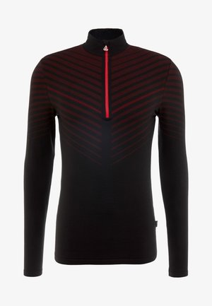 TRANSTEX® HYBRID - Funktionsshirt - black/red