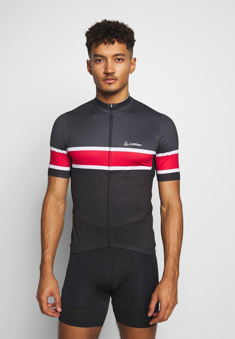 LÖFFLER - BIKE PACE - T-Shirt print - black/red