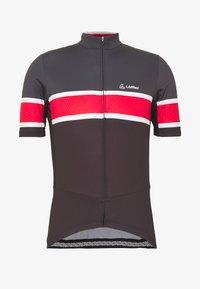 LÖFFLER - BIKE PACE - T-Shirt print - black/red - 4