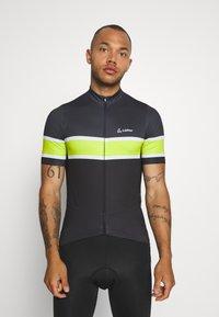 LÖFFLER - BIKE PACE - T-Shirt print - black/light green - 0