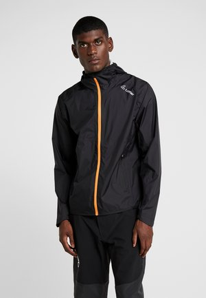 POCKET - Hardshelljacke - black/carrot