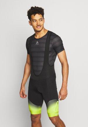 BIKE BIB SHORTS EVO - Shorts - black/light green
