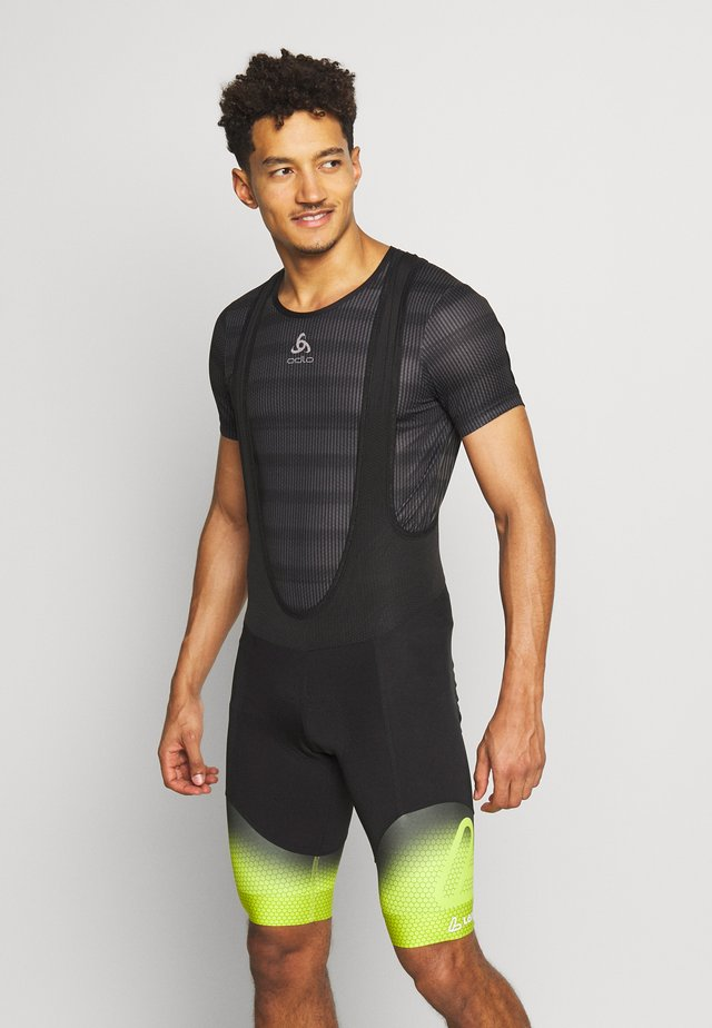 BIKE BIB SHORTS EVO - Shortsit - black/light green