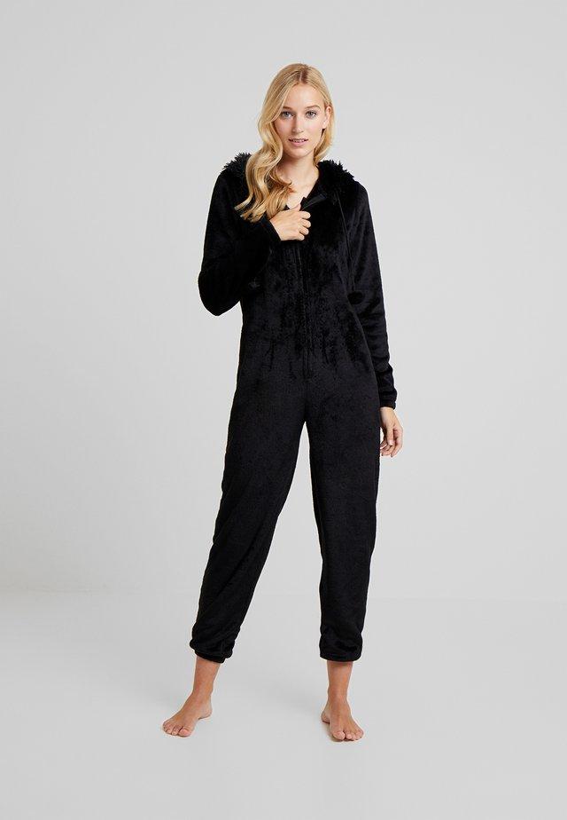 CAT ONESIE - Pyjama - black