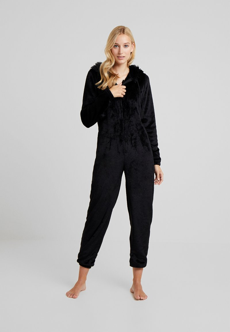 Loungeable - CAT ONESIE - Pyjamas - black