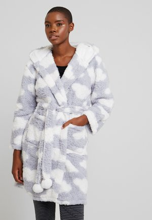CHUNKY SHERPA CLOUD ROBE - Dressing gown - blue/white