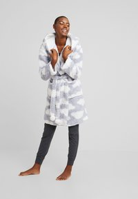 Loungeable - CHUNKY SHERPA CLOUD ROBE - Dressing gown - blue/white - 1
