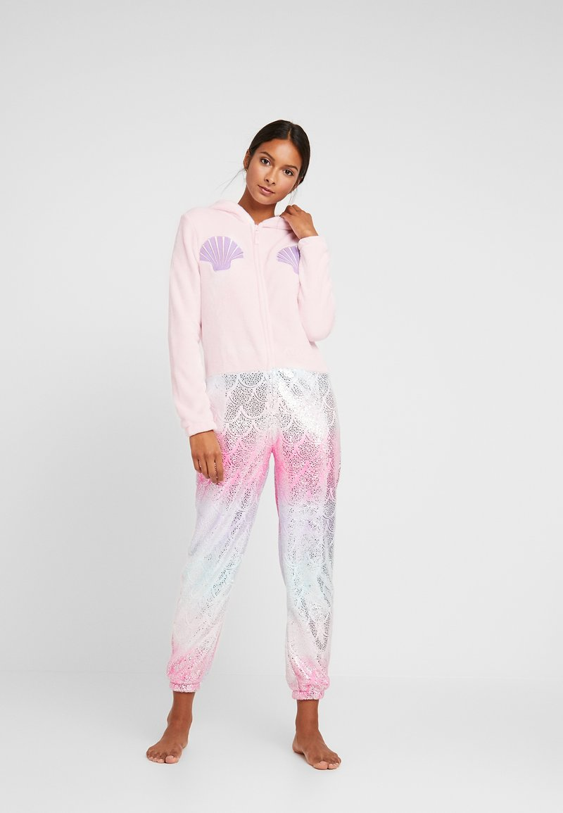 Loungeable - MERMAID PRINT AND APPLIQUE ALL IN ONE - Pyjamas - pink
