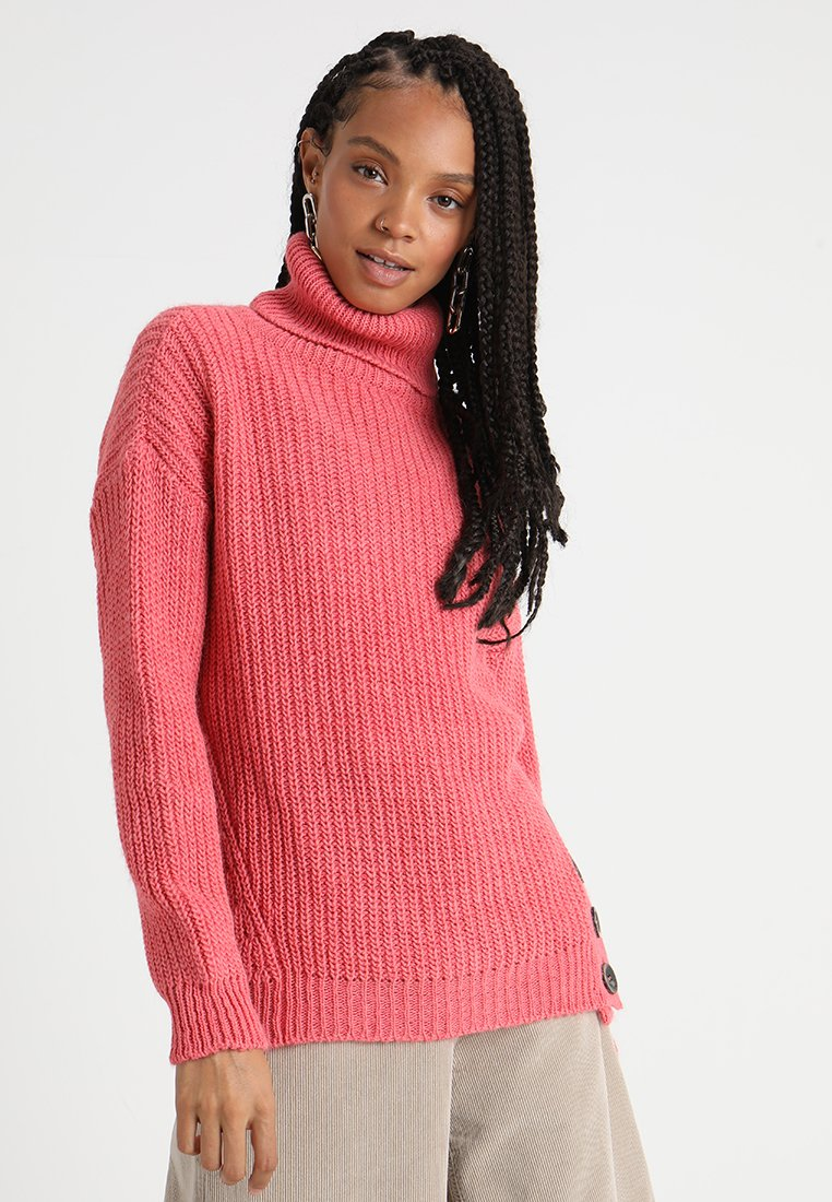 Les Petites... CHUNKY ROLL NECK - Pullover coral