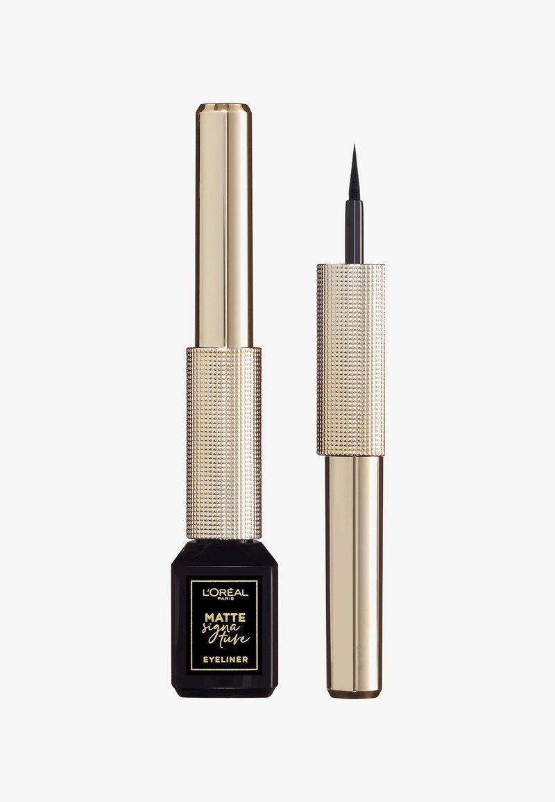 L'Oréal Paris - MATTE SIGNATURE EYELINER - Eyeliner - 01 black