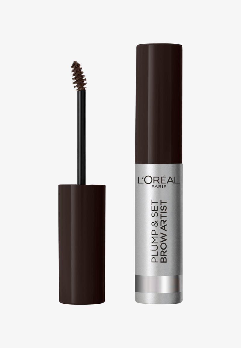 L'Oréal Paris - BROW ARTIST PLUMP & SET - Eyebrow gel - ebony