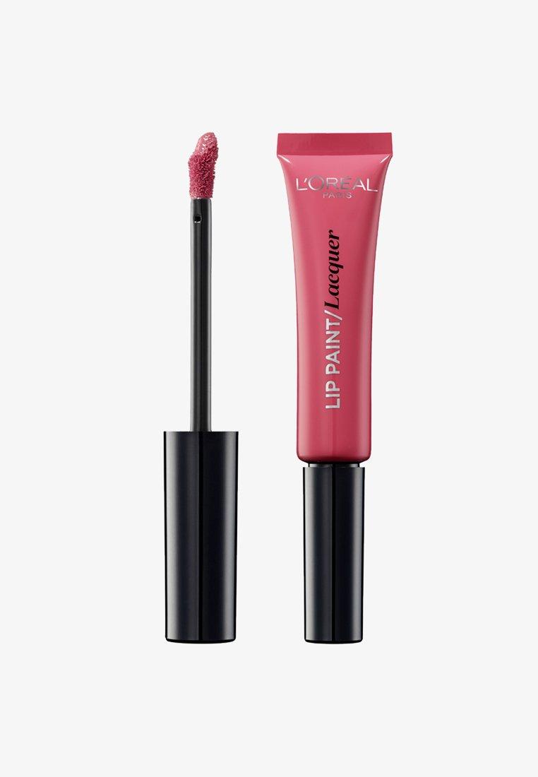 L'Oréal Paris - INFAILLIBLE LAQUER LIP PAINT - Lip gloss - 102 pink lady
