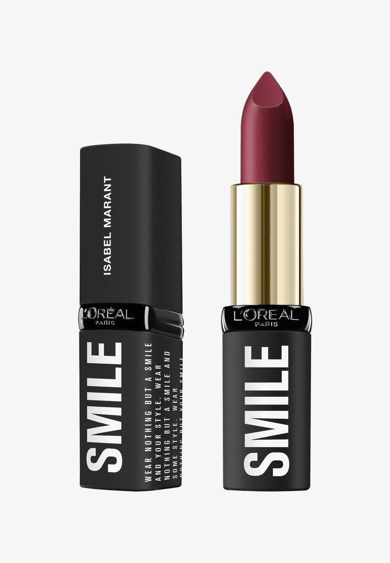 L'Oréal Paris - ISABEL MARANT SMILE LIPSTICK - Rouge à lèvres - 01 belleville rodeo