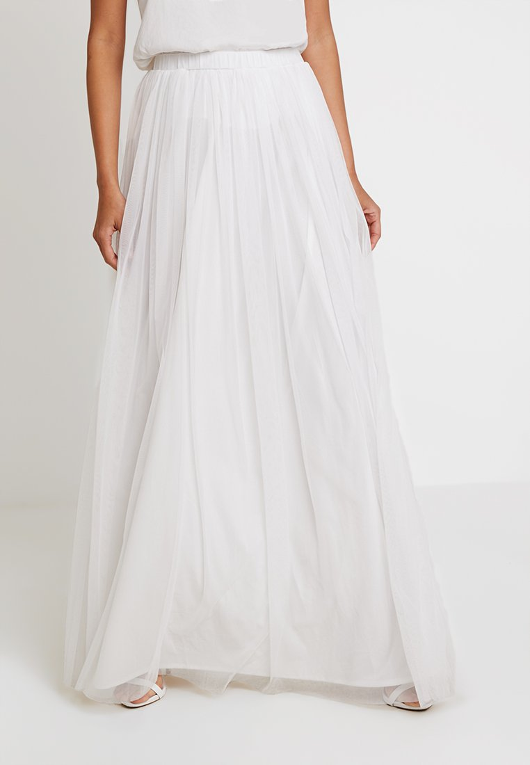 Lace & Beads - NOTAL SKIRT - Maxi skirt - white
