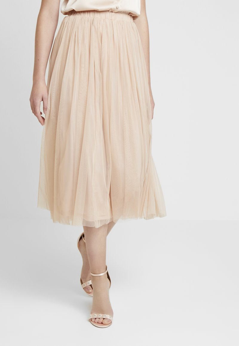 Lace & Beads - RENELLE SKIRT - A-linjainen hame - nude