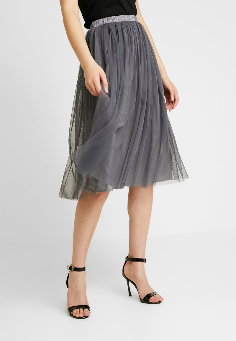Lace & Beads - VAL SKIRT - A-line skjørt - charcoal