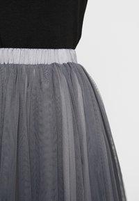 Lace & Beads - VAL SKIRT - A-line skjørt - charcoal - 5