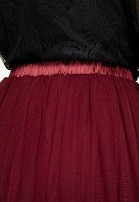 Lace & Beads - VAL SKIRT - Jupe trapèze - burgundy - 5