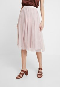 Lace & Beads - VAL SKIRT - Spódnica trapezowa - dark pink - 0