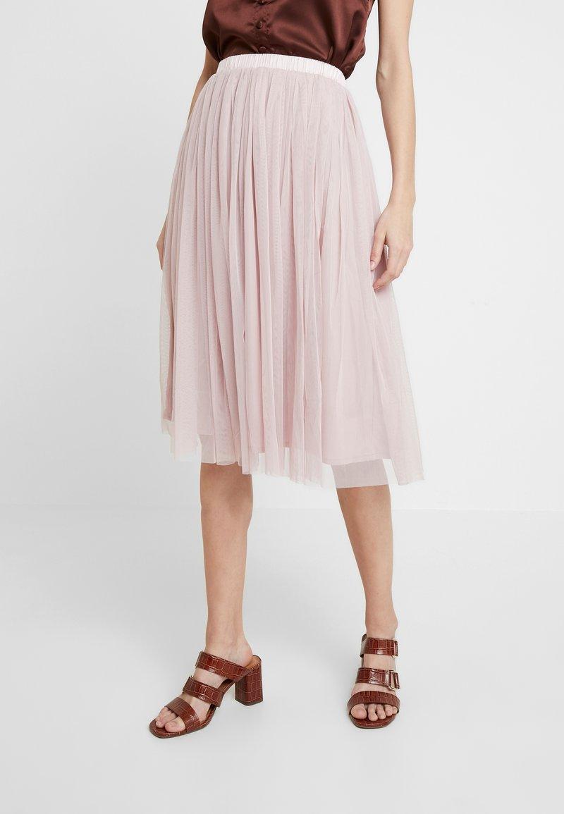 Lace & Beads - VAL SKIRT - Spódnica trapezowa - dark pink