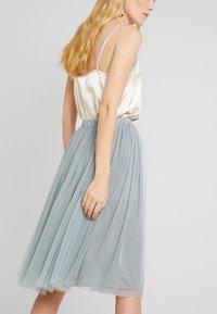 Lace & Beads - VAL SKIRT - Áčková sukně - teal - 4
