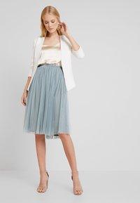 Lace & Beads - VAL SKIRT - Áčková sukně - teal - 2