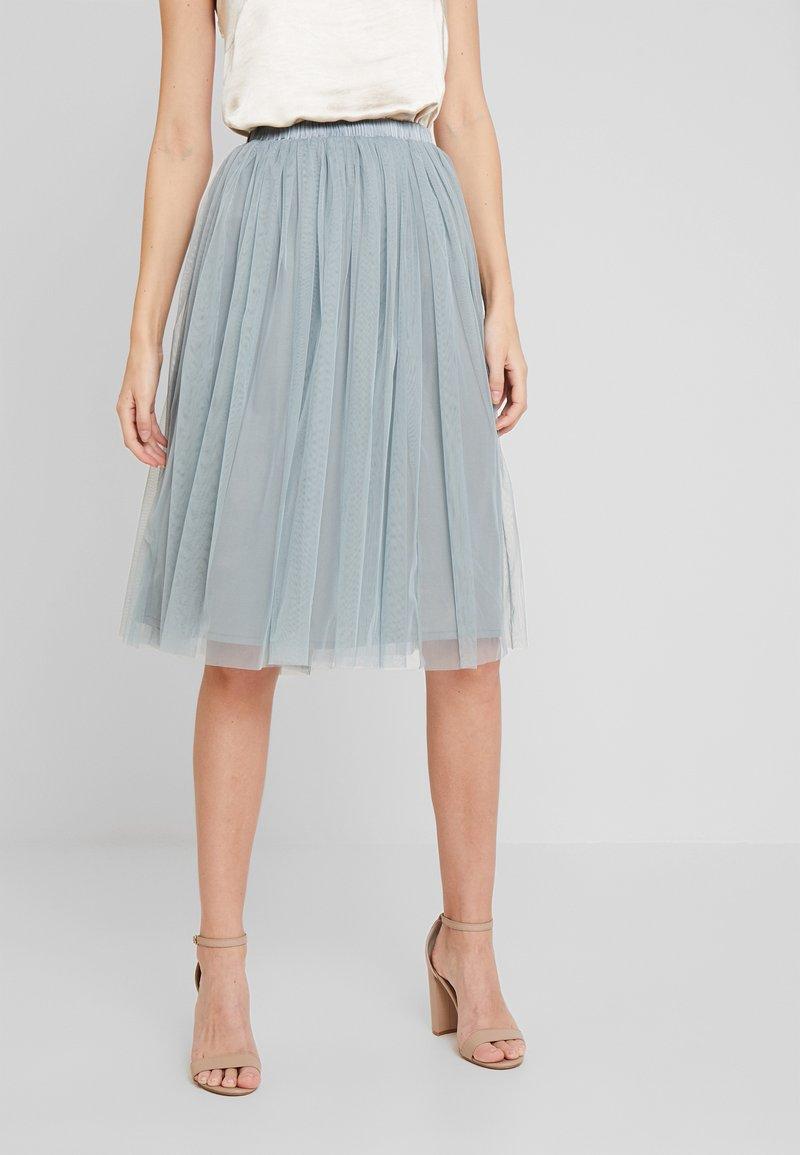 Lace & Beads - VAL SKIRT - Áčková sukně - teal