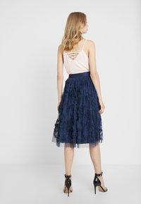 Lace & Beads - RUFFLE MIDI SKIRT - A-line skirt - dark blue - 2