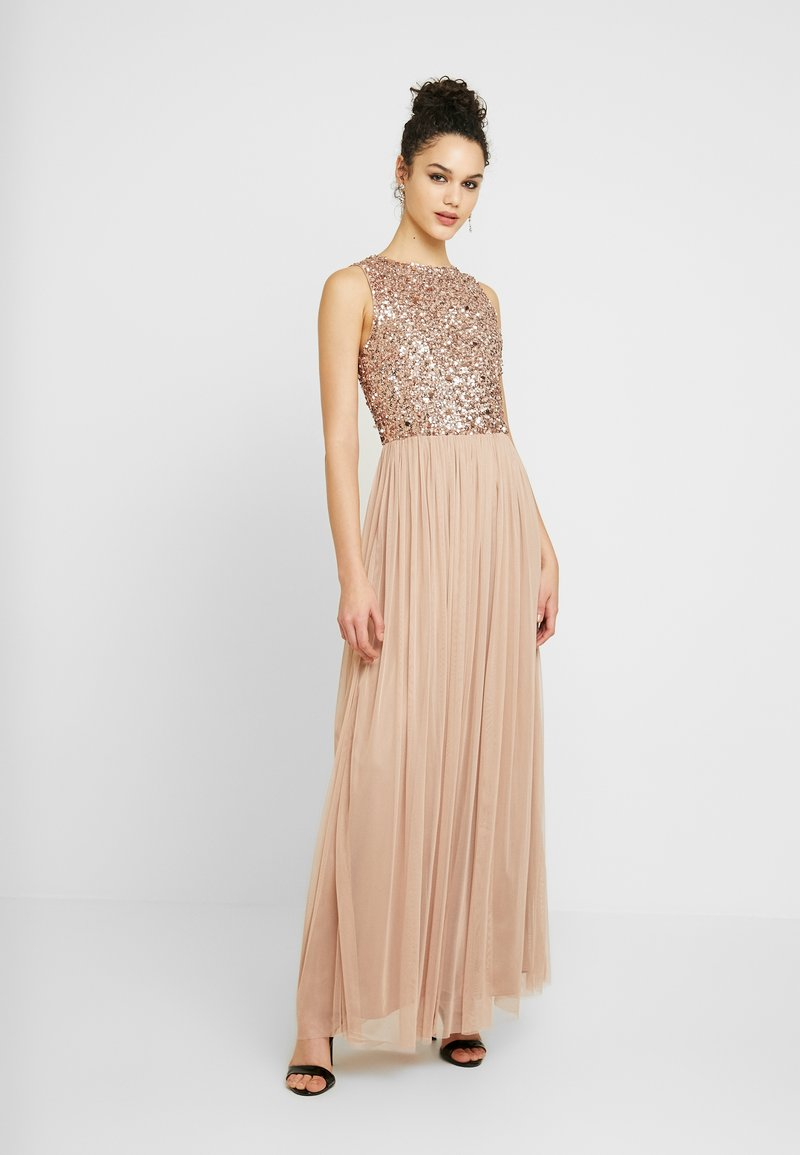 Lace & Beads - PICASSO MAXI - Occasion wear - mocha