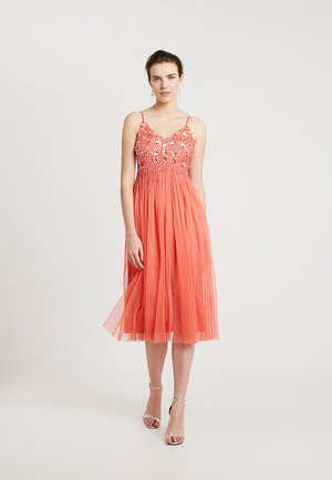 RIRI MIDI - Cocktail dress / Party dress - coral
