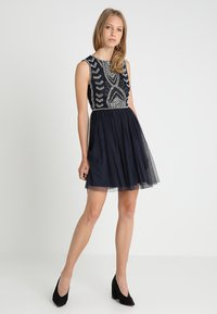 Lace & Beads - MAICAO SKATER - Cocktailjurk - navy - 2