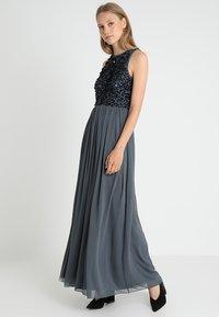 Lace & Beads - MISTY MAXI - Galajurk - dark grey - 2