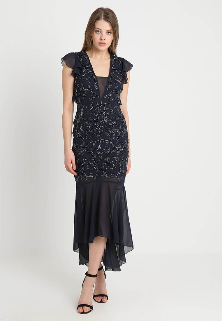 Lace & Beads - NATSUMI MIDI - Occasion wear - navy