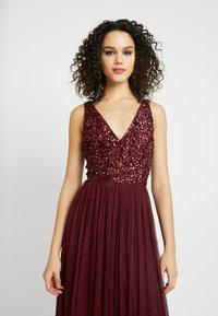 Lace & Beads - ALICE MAXI - Společenské šaty - burgundy - 4
