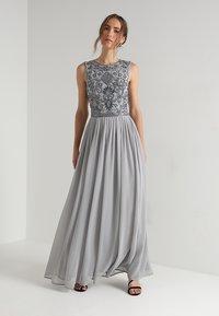 Lace & Beads - PAULA MAXI - Galajurk - light grey - 0