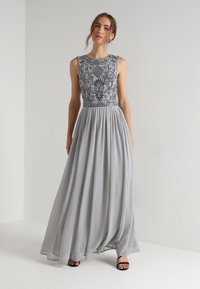 PAULA MAXI - Společenské šaty - light grey